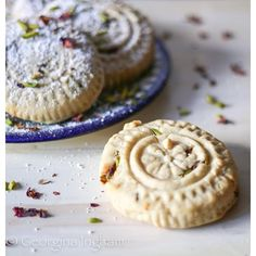 Here we have Ma'amul Cookies which are traditionally served for Eid al-Fitr (the end of Ramadan) ... Recipe from Jerusalem by Yoyam Ottolengi and Sami Tamimi
