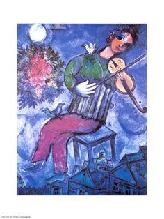 Violoniste Bleu Print by Marc Chagall at Art.com