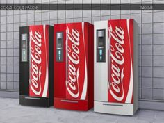 The Sims Resource: Coca-Cola Fridge by Paogae • Sims 4 Downloads