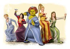 Shrek Princesses by MlleBrianna.deviantart.com on @deviantART