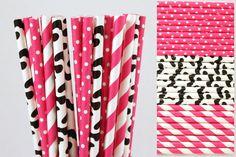 Vache rose chaud papier paille Mix-Girl ferme par CreativeJuiceCafe