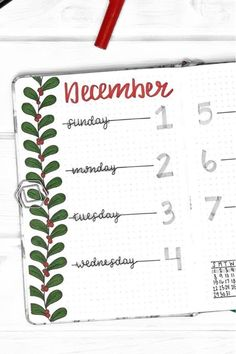 Check out the best DECEMBER weekly spread ideas to try in your bullet journal! Bullet Journal Christmas, December Bullet Journal, Bullet Journal Notebook, Bullet Journal Aesthetic, Bullet Journal School, Bullet Journal Layout, Bullet Journal Inspiration, Bujo, Bullet Journal Lettering Ideas