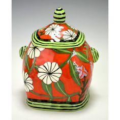 Red Jar Flowers by nancyandburt on Etsy, $98.00