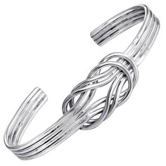 Cape Cod Nautical Sailors Double Love Knot Sterling Silver Cuff Bracelet * Be sure to check out this.