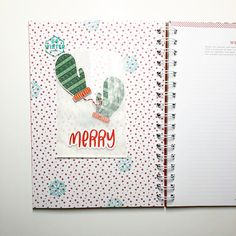 December Daily journal by Alyssa @myvisualmark (Comfort and Joy kit designed by Brandi Kincaid and FYC Snow Day stamp)
