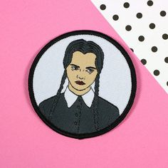 Hey, I found this really awesome Etsy listing at https://www.etsy.com/listing/507672505/wednesday-addams-iron-on-patch-patch