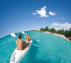 Kayaking around Hamilton Island #Australia #paradise http://www.downunder-travel.com/