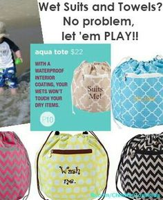 The name says it all. No more stinky towels! Great for summer beach trips or pool parties. 5 patterns $22
