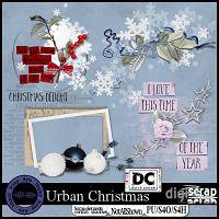 Urban Christmas wordart overlays,