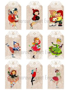 INSTANT DOWNLOAD Christmas Tags  Ice by glamoroussweetevent