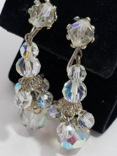 Simply Gorgeous Austrian Cut AB Crystal Chandelier Style Clip Earrings Vintage Crystal Chandelier, Clip Earrings, Chandelier Earrings, Abs, This Or That Questions, Crystals, Metal, Silver, Gifts