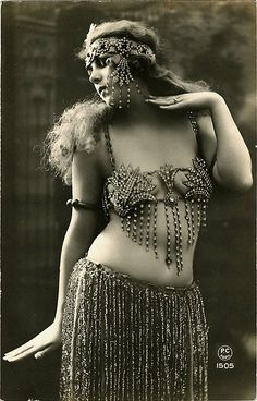 Belly Dancer // omg look, the days before photoshop when women look real in photographs!