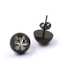 Find More Stud Earrings Information about 1.2cm Stud Earrings Stainless Steel Black Ball Earring for female gift 7.5G,High Quality Stud Earrings from JINHUI on Aliexpress.com