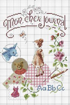 Veronique Enginger & Sophie Bester-Baque - Mon journal au point de croix