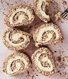 Cheesecake roll cake Baking, Celebrate and Enjoy, Sweet Baking, Gluten Free … – Pirkko Koskela Juustokakkukääretorttu Piece Of Cakes, Gluten Free Baking, Something Sweet, Sweet Desserts, No Bake Cake, Baked Goods, Cheesecake, Rolls, Food And Drink
