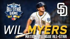 Congratulations to wil myers on being selected to the National League team for the 2016 All-Star Game! 🌟 7/5/2016