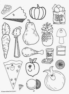 Imagenes De Comida Saludable Para Colorear E Imprimir Dibujos De