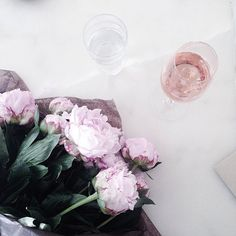Peonies and rose for @dianacolangelo bday celebration yesterday at Tilia.
