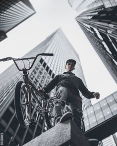Urban streetstyle men portrait photography in Toronto Photo by @sksquared #bmx #urban