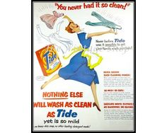 Glorious Tide Detergent 1950s Vintage by thevintageshop on Etsy