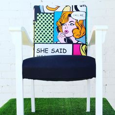 New in! one of a kind pop art armchair $420 link in bio #popart #vintage #oneofakind #unique #sydneyinteriors #sydneystyling #sydneyparty