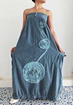 Lady party  Bule... Maxi Dress Cotton by thaichaiangraicotton, $25.00