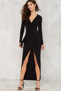 Nasty Gal Slit by Slit Maxi Dress - Clothes | Going Out | Midi + Maxi | Dresses