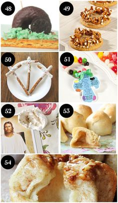Christ-Centered Easter Treat Ideas for Kids- love the story that goes with the resurrection rolls and resurrection cookies!