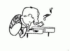 Schroeder che suona il pianoforte ... Beata solitudo...