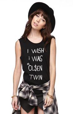 Hips and Hair Olsens Muscle Tee