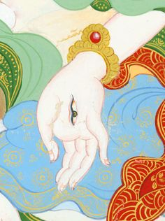 White Tara detail - White Tara is an emanation of Tara who is connected with longevity, health, and strength.