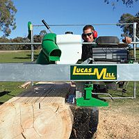 "Lucas Mill 10"" portable sawmill."