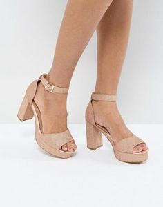 28a4f6af5ae6 ASOS HEIDI Heeled Sandals Nude Shoes