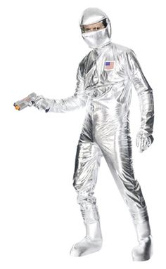 Mens Astronaut Silver Space Suit Festival Outfit Fancy Dress Costume in Clothes, Shoes & Accessories, Fancy Dress & Period Costume, Fancy Dress Costume Halloween, Fire Costume, Adult Halloween, Halloween Outfits, Halloween Tricks, Astronaut Suit, Spaceman Costume, Silver Jumpsuits, Outfits