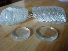 Lacto ferment glass jar weights -canning preserves new- keeps food down -2 sizes