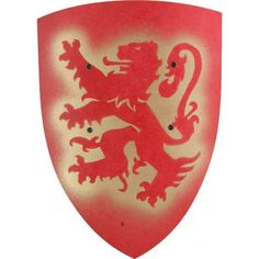 lion shield, red : Nest European + Toys Home - $15