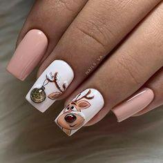 Xmas Nails, Christmas Nail Art, Holiday Nails, Christmas Decorations, Cute Acrylic Nails, Cute Nails, Fancy Nails, Trendy Nail Art, Stylish Nails