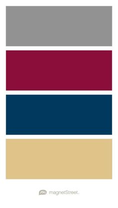 Classic Gray, Burgundy, Navy, and Gold Wedding Color Palette - custom color palette created at MagnetStreet.com