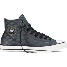 7477c895f961 Converse Chuck Taylor All Star Quilted – storm wind black white... ( 50) ❤  liked on Polyvore featuring shoes