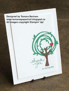 Tamara's Paper Trail: Swirly Tree
