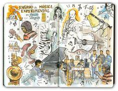 Joaquin  |  #urbansketchers | Madrid -Dibujando música