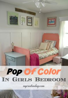 Are you looking for a rug idea for a girl's bedroom? Add a Pop Of Color like we did on uur daughter's bedroom floor. mycreativedays.com