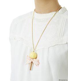 Lollipop Ribbon Chocolat Necklace(YEL)