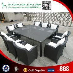 Rectángulo china 10 plazas mesa de comedor conjunto utilizado pación muebles al aire libre