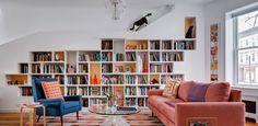 Проект недели: Дом для книголюбов и кошек, Бруклин, США, BFDO Architects  #wb365