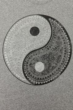 Truly Madly Deeply Paisley Yin Yang Tee