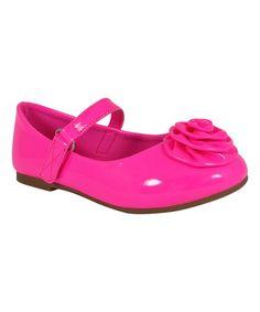 This Neon Pink Flower Colaya Flat is perfect! #zulilyfinds