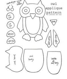 Owl Applique Pattern.