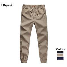 f79fb0b9f24 Plus Size Khaki Joggers Mens Khaki Pants Jogger Pants Men s Cuffed Joggers  Pants Cotton Long Trousers