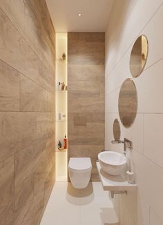 The other small bathroom design ideas are roomy and revolutionary, rethinking wh. - The other small bathroom design ideas are roomy and revolutionary, rethinking what we expect a bath - Small Bathroom Colors, Small Bathroom Vanities, Bathroom Toilets, Bathroom Layout, Modern Bathroom Design, Bathroom Interior Design, Bathroom Ideas, Small Bathrooms, Master Bathroom